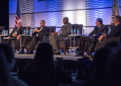 Panel discussion on modernization in travel management, GovTravels 2017. (Photo by Cherie Cullen)