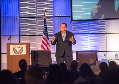 Jeffery Stutzman, CEO of Wapack Labs, speaks about cybersecurity at GovTravels 2017. (Photo by Cherie Cullen)