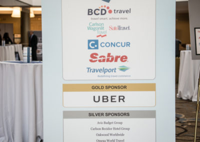 Corporate sponsors of GovTravels 2017 (Photo by Cherie Cullen)