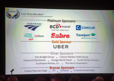 Corporate sponsors of GovTravels 2017. (Photo by Cherie Cullen)