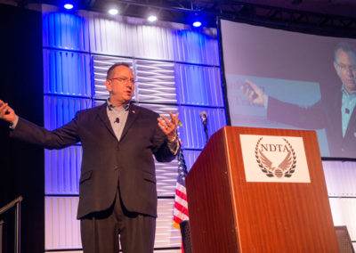 Jeffery Stutzman, CEO of Wapack Labs, speaks at GovTravels 2017. (Photo by Cherie Cullen)