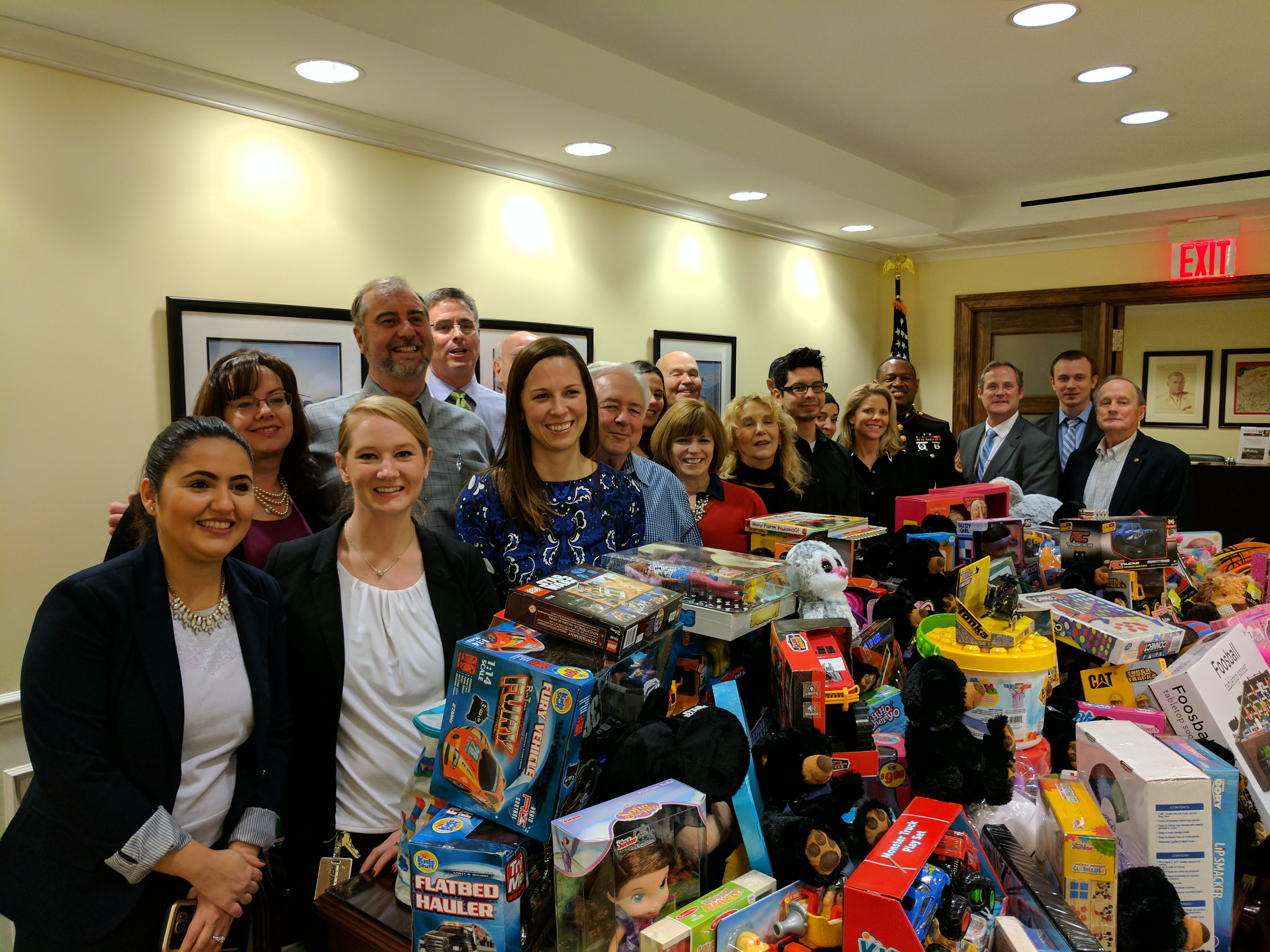 Toys for Tots collection and reception at NDTA on  Dec. 8, 2016