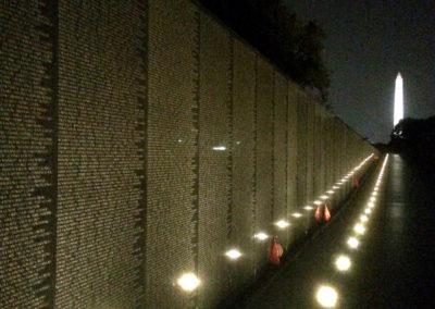 NDTA volunteers clean the Vietnam Veterans Memorial, Oct. 28, 2017. (Photo by Lee Matthews)