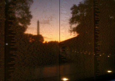 NDTA volunteers clean the Vietnam Veterans Memorial, Oct. 28, 2017. (Photo by Amy Hauser)