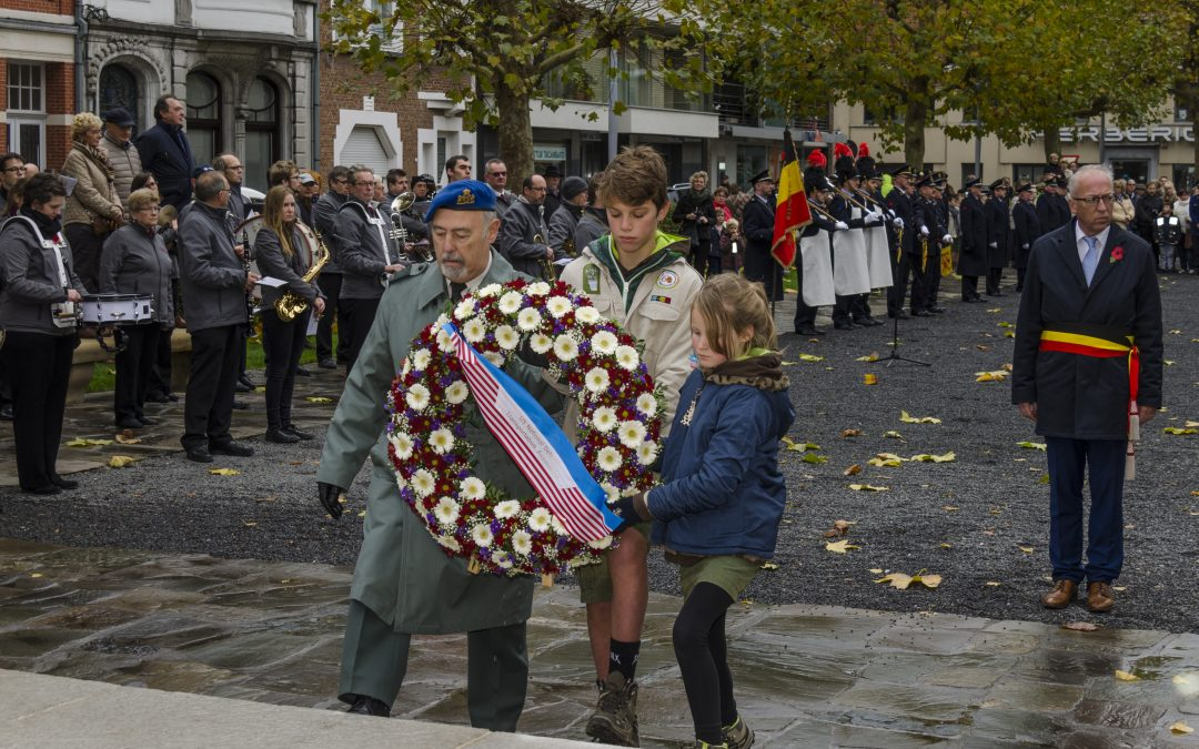 Wreath Laying at Oudenaarde American Monument